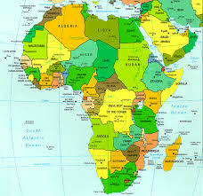 africa map color map of the continent of africa 7th grade la history block