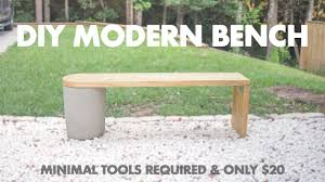 Wooden Bench And Table 20 Diy Modern Concrete And 2x12 Wood Bench Very Easy To Make