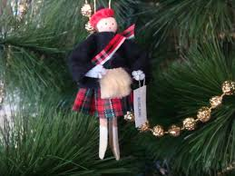 scotland clothespin doll ornament scottish by cherylsdollsnstuff