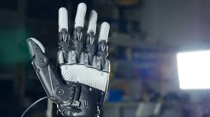 futuristic robotic cyborg arm in action real robotic prosthesis