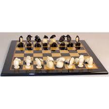amazon com turtle tagua nut chess set with black u0026 madrona burl
