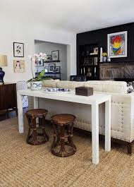 Back Of Couch Table 81 Best Sofa Table Images On Pinterest Island Living Room And