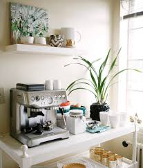 Coffee Maker Table White Wood Coffee Station Table With Coffee Maker Floating