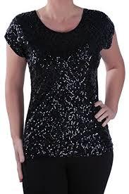 black sequin tops