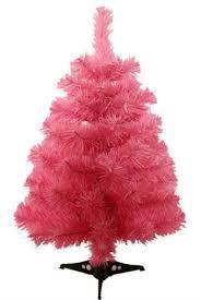 small pink christmas tree mini pink christmas trees