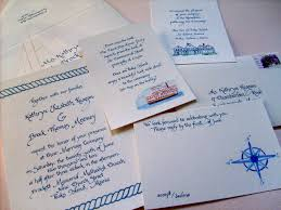 Wedding Invitations Nautical Theme - simply el katie and brock u0027s nautical themed wedding invitations