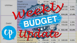 Dave Ramsey Budget Spreadsheet Weekly Budget Jan 6 Dave Ramsey Inspired Youtube