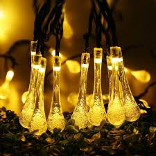 Solar Party Lights Solar Led Garlands String Fairy Lights 7m 20 Led Water Drop