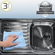 shine stainless steel sink amazon com pro chef kitchen tools stainless steel microfiber