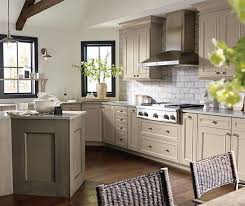 lovely taupe painted kitchen cabinets taste