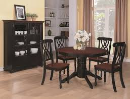 Coaster Dining Room Sets Chair Black And Wood Dining Table Chairs Best Room Se Black Wood