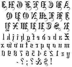 old english lettering tattoo old english lettering alphabets