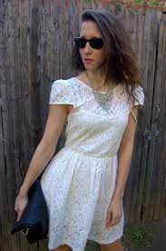 necklace with lace dress images Fashion and beats real how to wear a white lace dress jpg