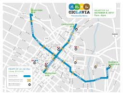 Metro Route Map by Ciclavia Heart Of La Presented By Metro