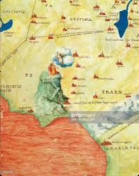 The Red Sea Map Nile River Delta Red Sea And Mount Sinai From Atlas Of The World