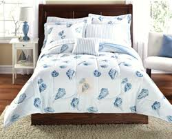 assorted seashells bed bedding assorted seashells themed bedding in white