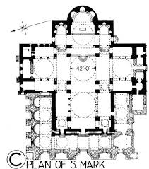 Baths Of Caracalla Floor Plan Floor Plan Of St Mark The Basilica Is In The Shape Of A Greek