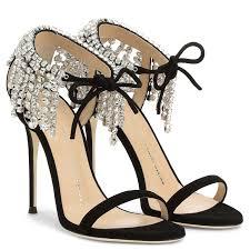 black sandals carrie crystal sandals black giuseppe zanotti us