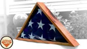 Triangle Flag Case Reclaimed Oak Pallet Wood Flag Box Youtube