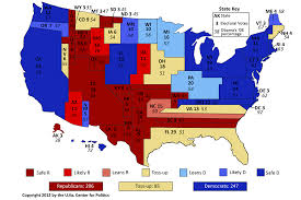 map of us states based on population larry j sabato s tight national race freezes
