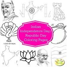 coloring pages of independence day of india 50 independence day republic day ideas crafts food books dress up