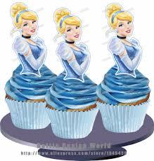 cinderella cupcake toppers 12 princess cinderella edible cake topper wafer rice paper cake