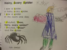 Scary Poems For Halloween Growing Kinders Spiders