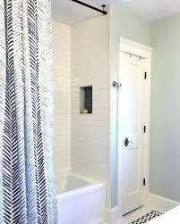 Bathroom Shower Curtain Rod Shower Curtain Rod Installation Hanging Install Bathroom How To