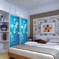 Blue And White Bedroom Wallpaper Aliexpress Com Buy Yazi Customized Size Blue White Flower Pvc