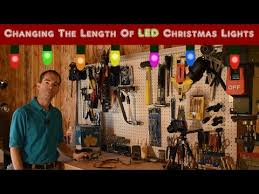 custom length christmas light strings changing the length of led christmas lights don t do this youtube
