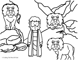 daniel lions den coloring crafting word god