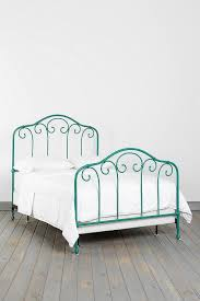 Turquoise Bed Frame Turquoise Curled Iron Bed