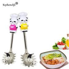 ustensil cuisine keythemelife 1pcs panda stainless steel spaghetti spoon