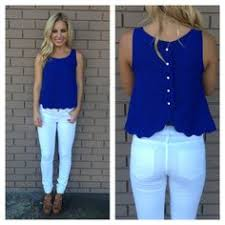 royal blue blouse top purple chiffon top with bow on the front with white