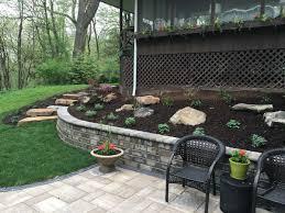 stunning terraced backyard wli inc