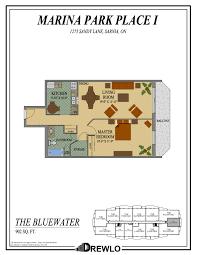 Bluewater Floor Plan by Marina Park Place Sarnia Ontario Drewlo Holdings Drewlo