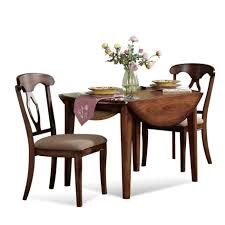 Wooden Dining Set Dining Room 3 Piece Drop Leaf Wooden Dining Set With Storage