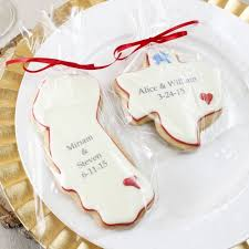 favor cookies wedding favors personalized state cookies a wedding