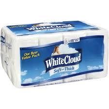 White Cloud Bathroom Tissue - white cloud soft and thick rolls bath tissue 24 ct walmart com