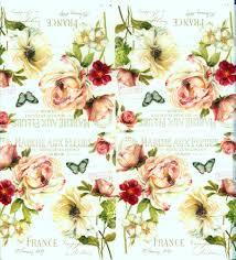 decoupage napkins of marche aux fleurs roses and butterflies