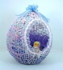 paper mache easter baskets wonderful diy easter string egg basket string balloons easter