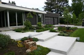 characteristics of modern landscape design for patio and elements