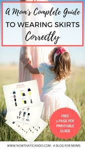 blogger guide pdf how to wear skirts without looking frumpy with 3 printable pdf