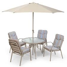 4 Seater Patio Furniture Set - provence 4 seater metal garden furniture set with parasol robert