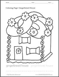 gingerbread house printable coloring page student handouts