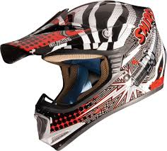 kbc motocross helmet shiro mx 306 rockit kid helmet black red motorcycle motocross