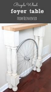 Narrow Foyer Table by The Bicycle Wheel Foyer Table Reinvented