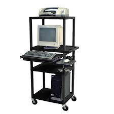 Computer Stands For Desks Great Black Metal Computer Stands For Desk With Wheels