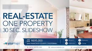 real estate one property 30s slideshow 4 after effects template