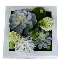 new 3d potted creative metope succulent plants imitation wood